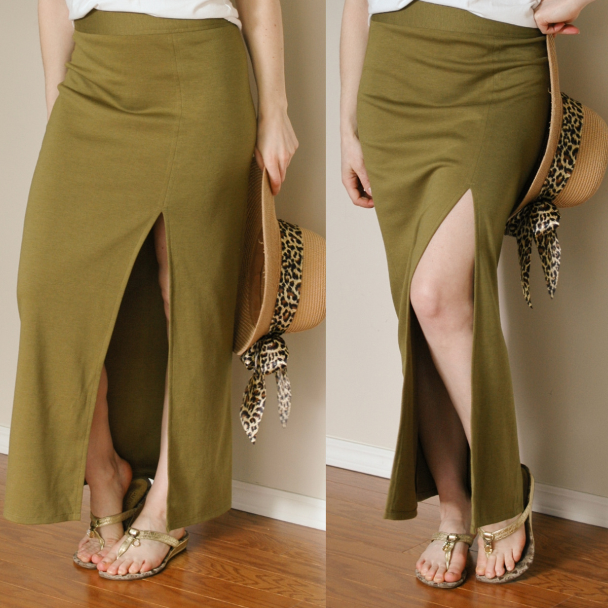 Easy DIY: Side-slit maxi skirt