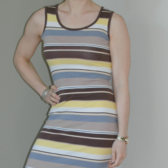 DIY Striped Midi Knit Dress