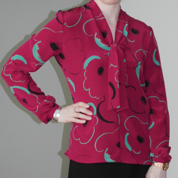 Sew Over It – Silk Pussy Bow Blouse
