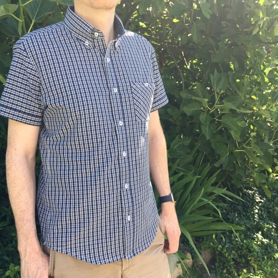 Short sleeved men's shirt